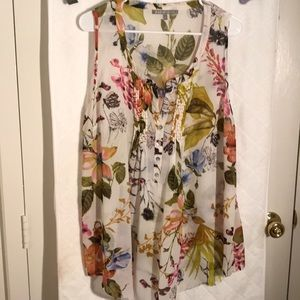 Daniel Rainn sheer floral top XL
